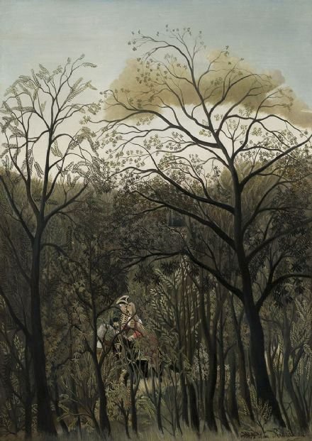 Rousseau, Henri: Rendezvous in the Forest. Fine Art Print/Poster. Sizes: A4/A3/A2/A1 (003547)